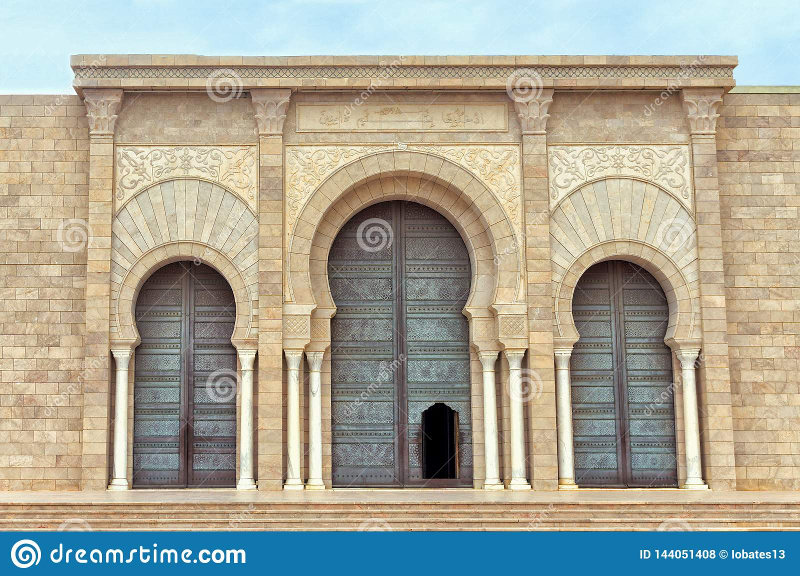 Fachada del ibn Anas Mosque de Malik en Cartago, Túnez