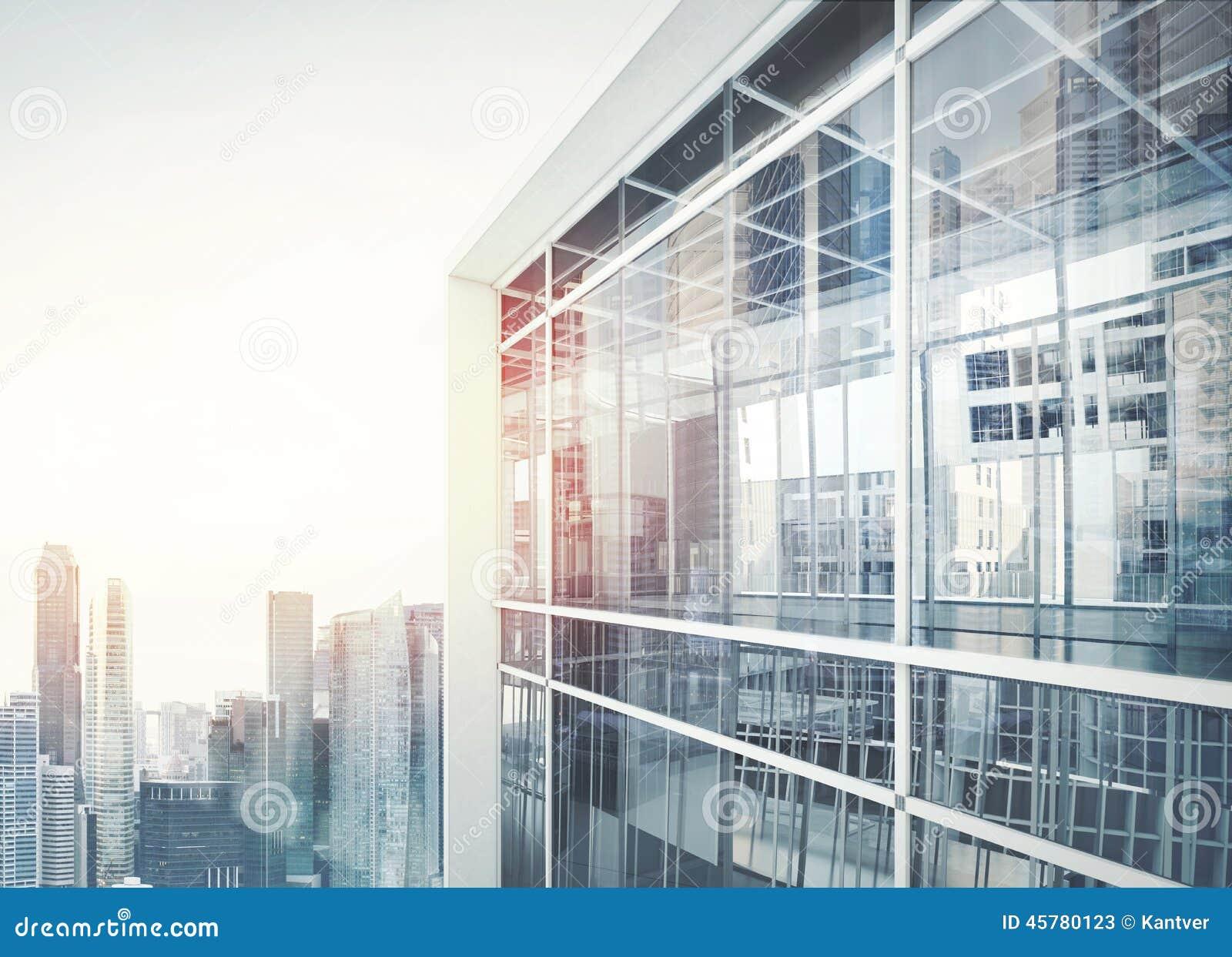 Fachada moderna del edificio de oficinas imagen de archivo for Fachadas modernas para oficinas