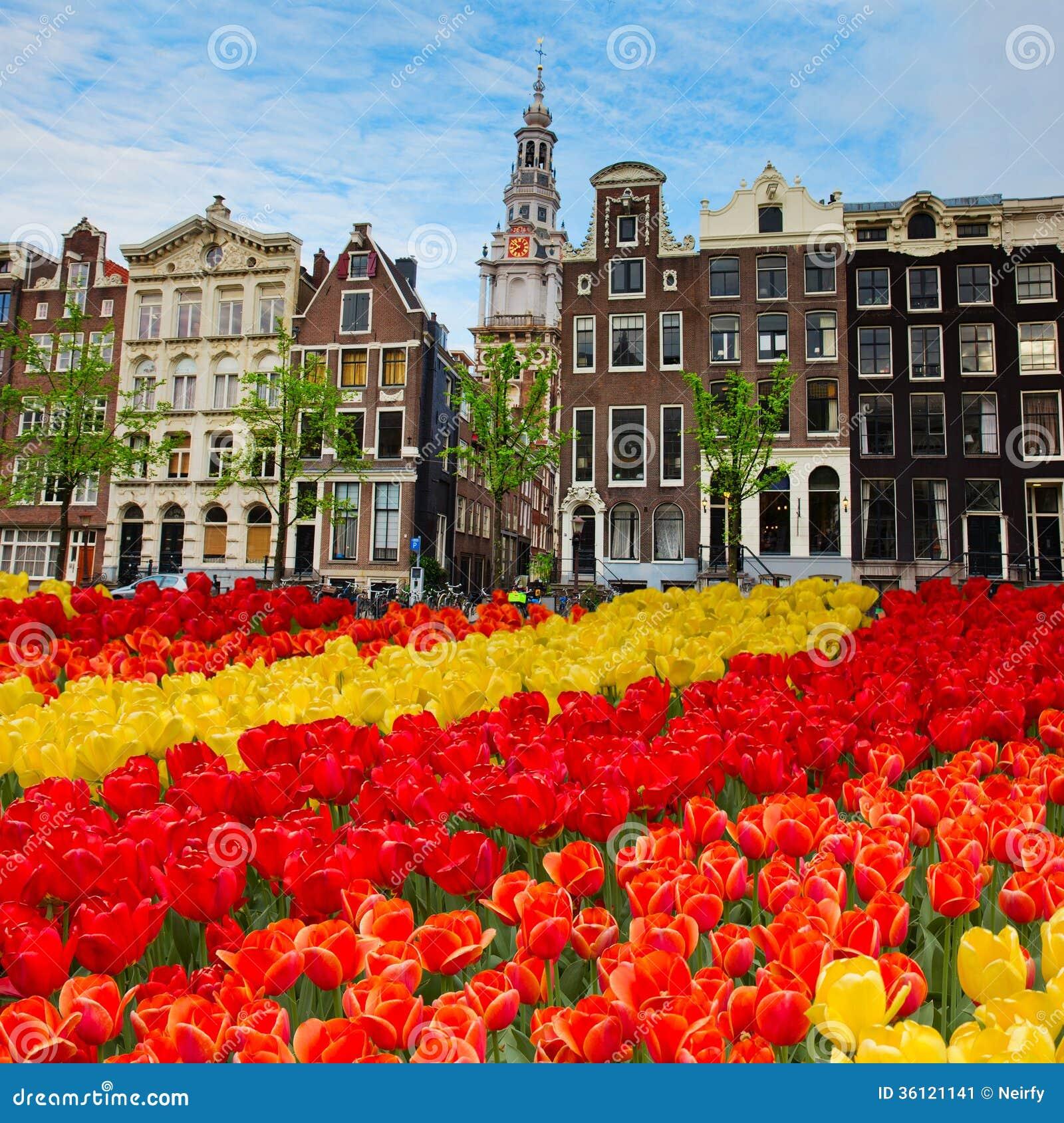 Fachadas de las casas viejas, Amsterdam, Países Bajos