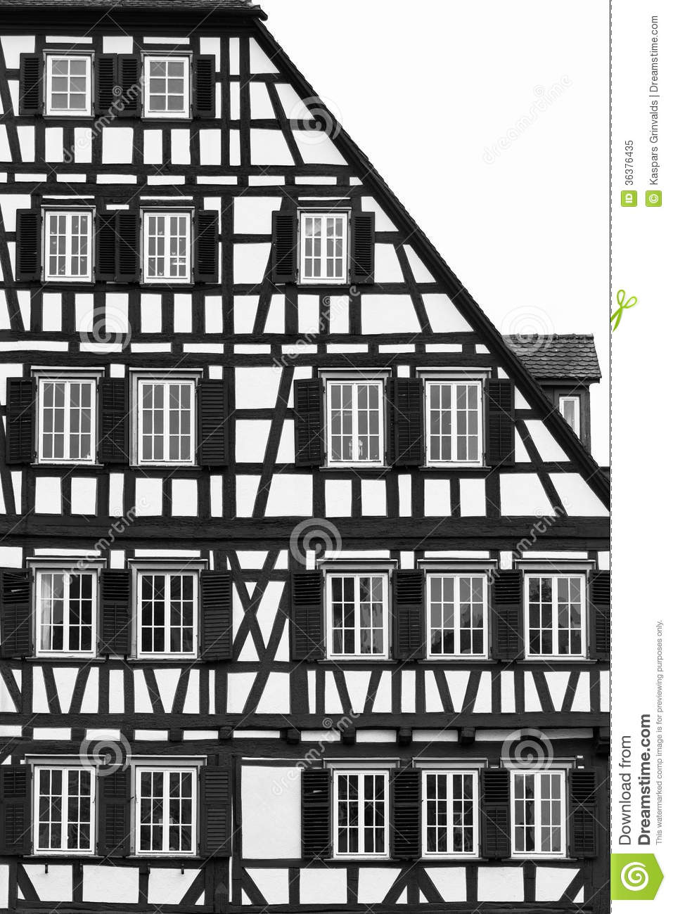 Fachwerk architecture style royalty free stock photo for Fachwerk 3d