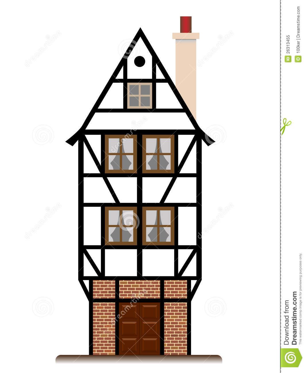 Fachwerk house traditional cottage isolated royalty free for 3d fachwerk