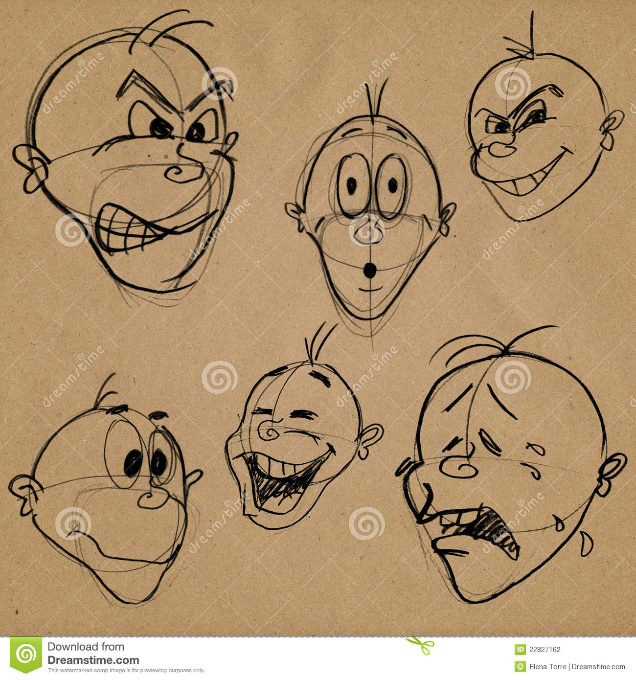 Consider, that facial expressions caricatures are not