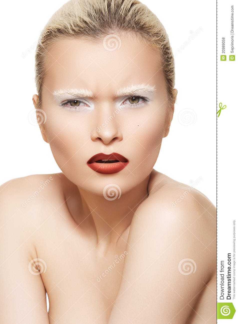 Facial Emotion High Fashion Make Up On Model Face Royalty Free Stock Photos Image 20989058