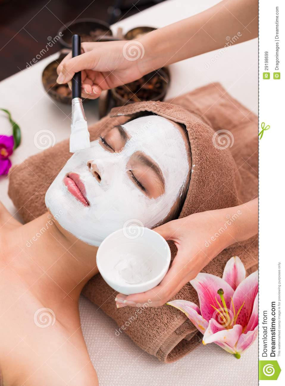 Facial mask stock image image of luxury care napping for Photo salon