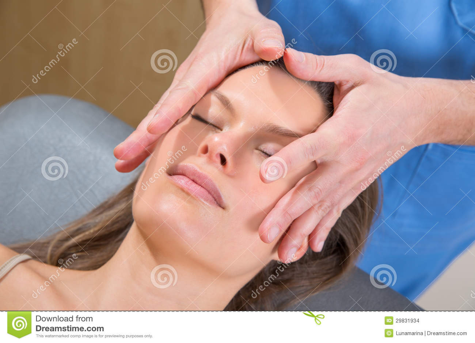 Massage therapist facial