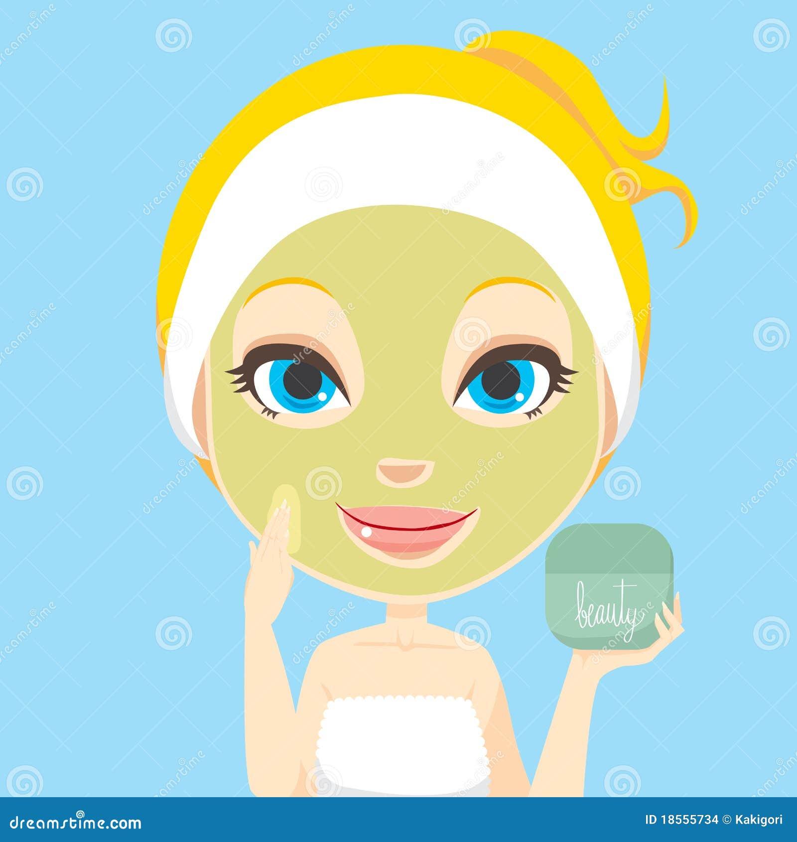Facial Skin Care stock vector. Illustration of human ...