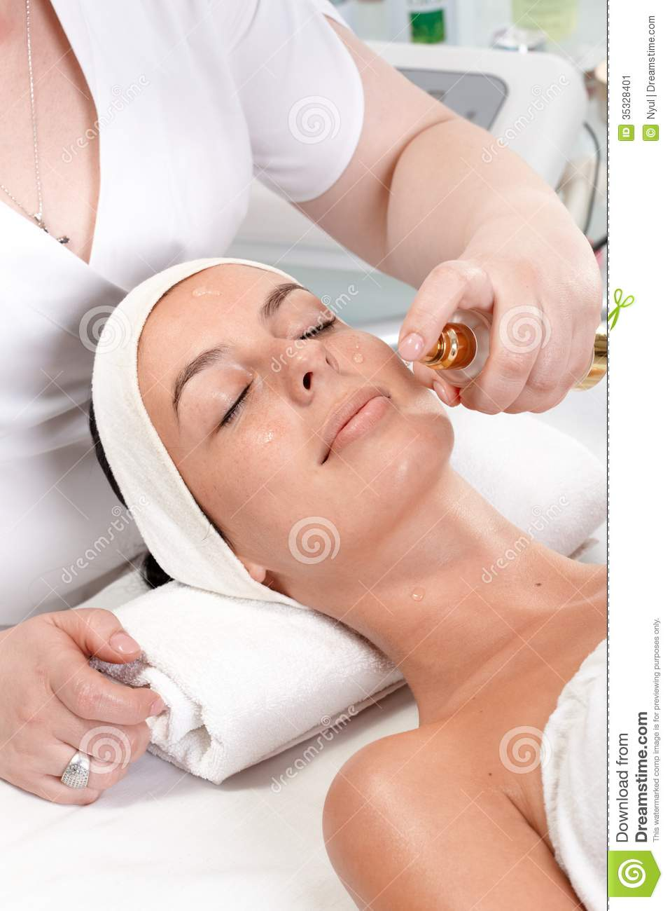 Facial treatment in beauty saloon stock image image for Salon younga