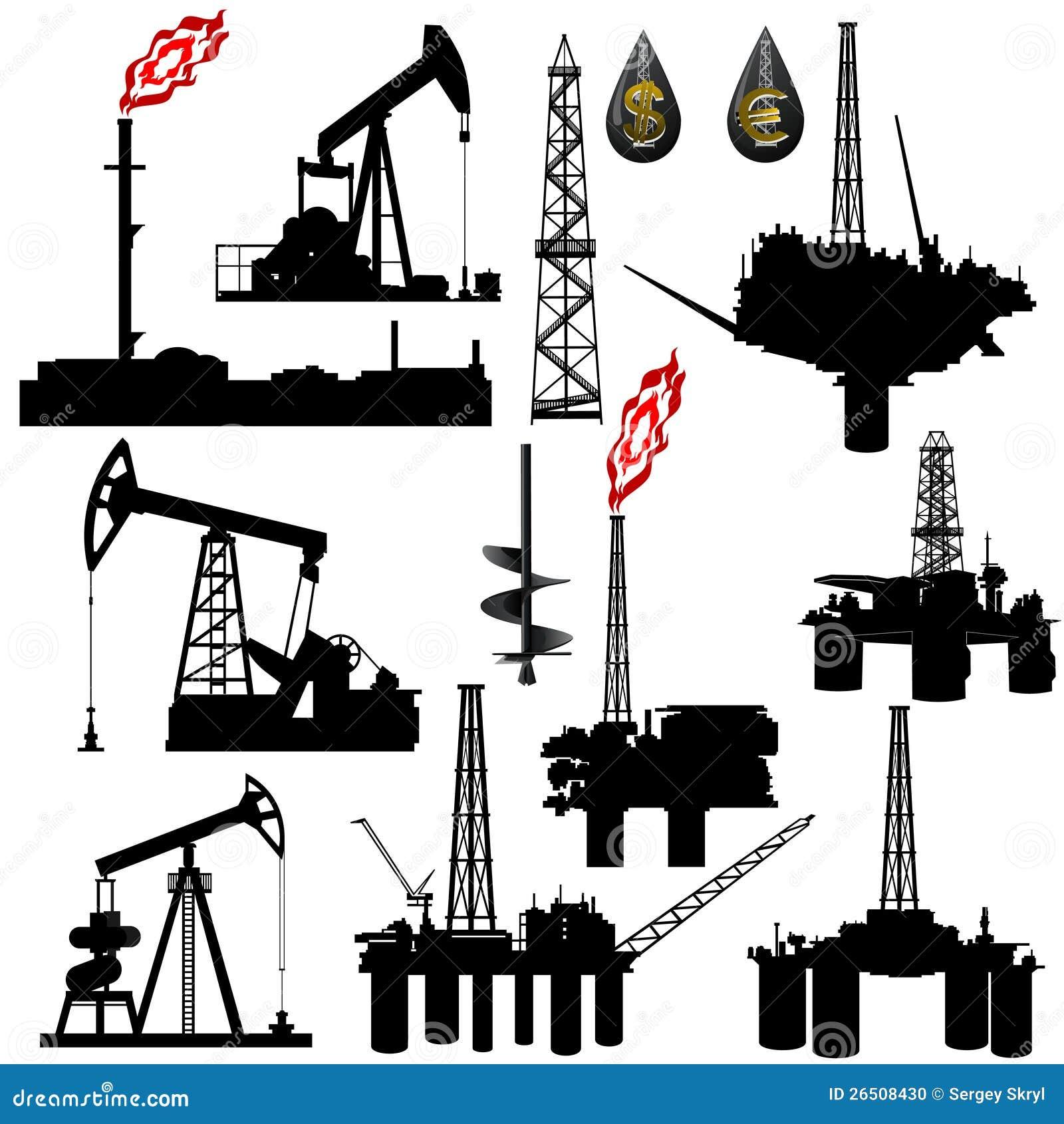 facilities for oil production stock photo image 26508430 Oil Derrick Clip Art Outline Oil Rig Clip Art