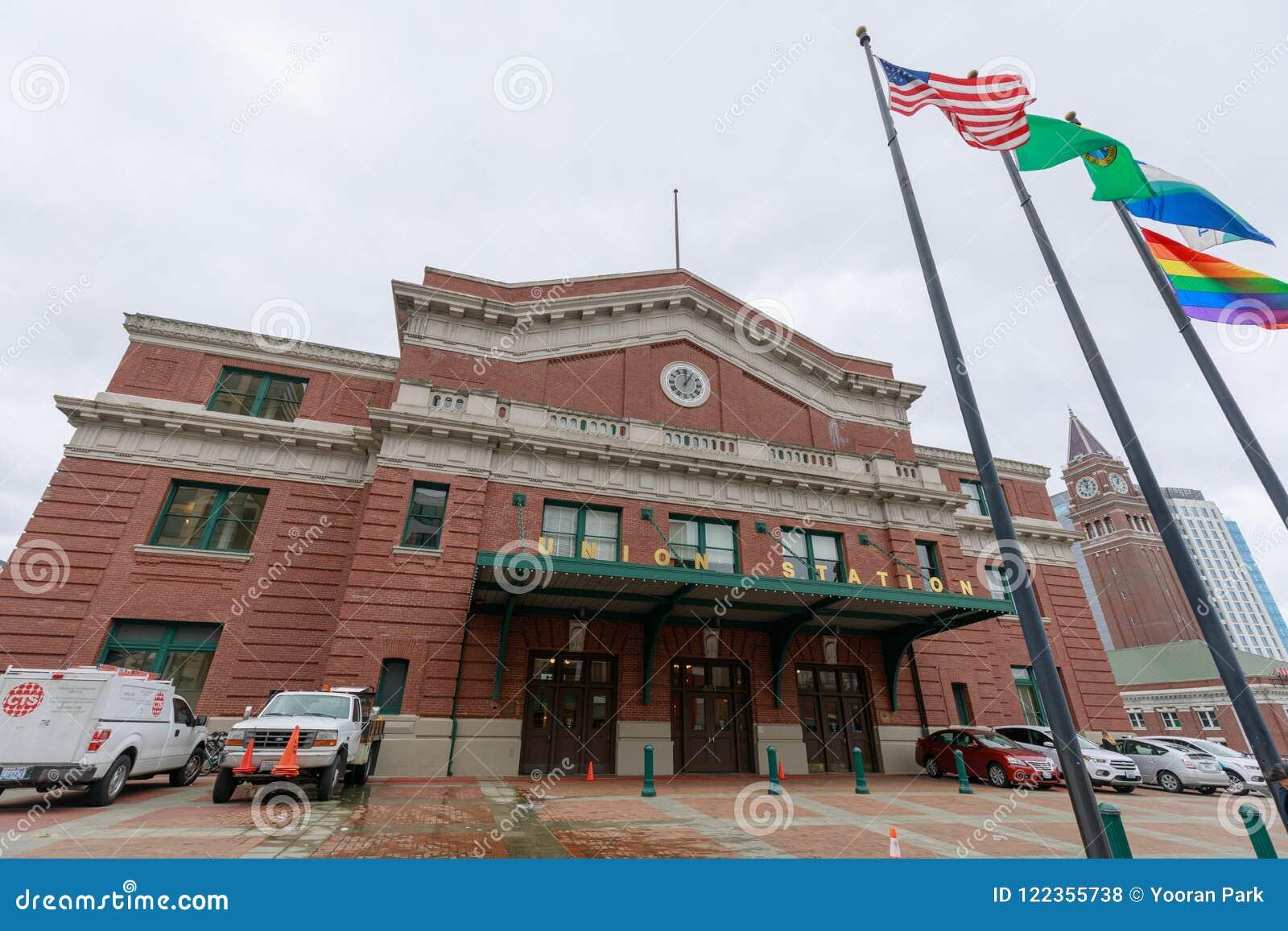 Facklig station, som är en tidigare drevstation i Seattle, Washington, USA