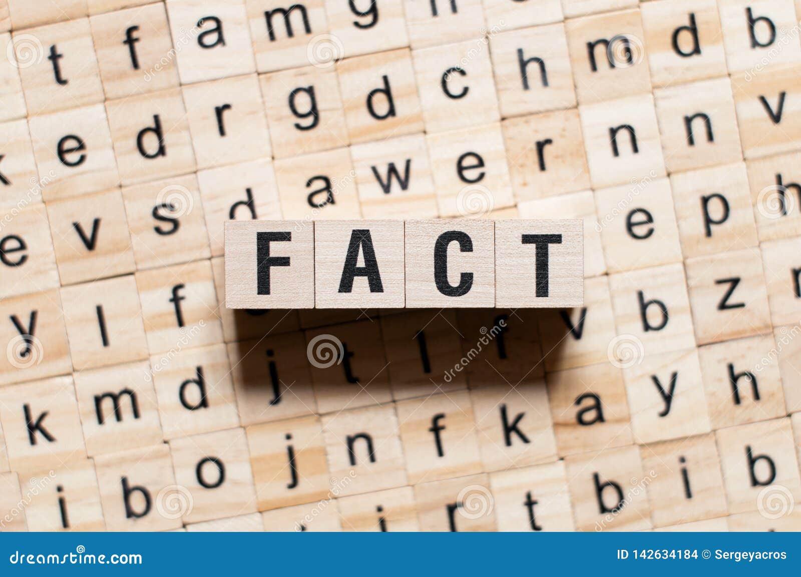 Fact słowa pojęcie