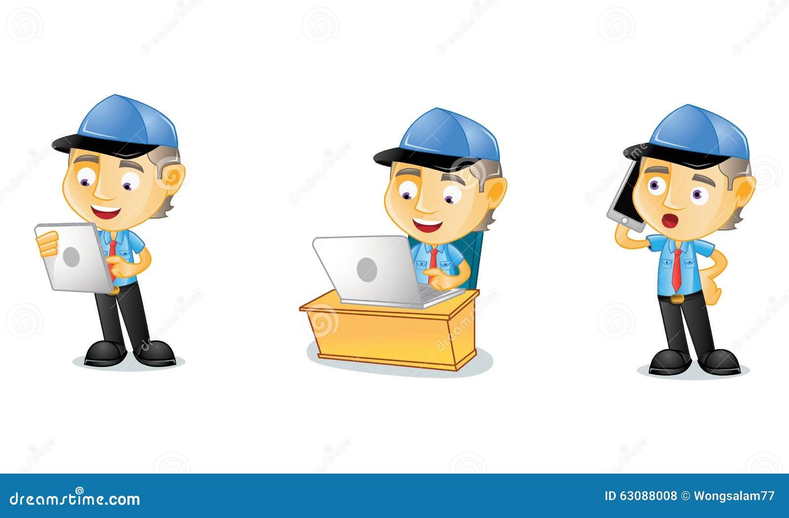 Download Facteur 3 illustration de vecteur. Illustration du postal - 63088008
