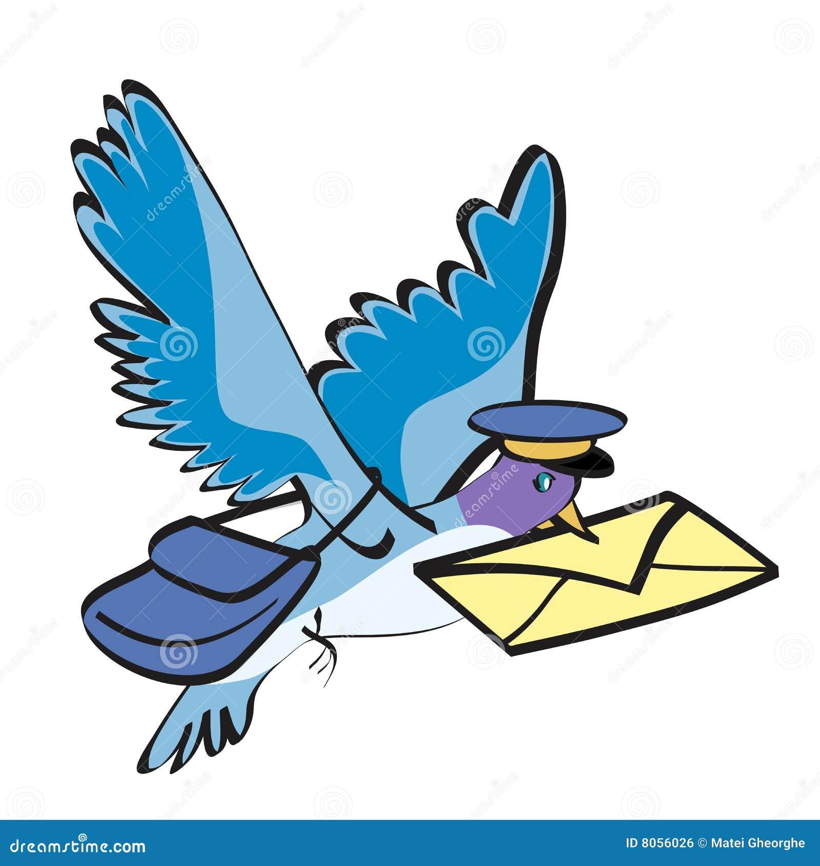 Facteur de pigeon illustration de vecteur illustration du envoi 8056026 - Dessin pigeon ...