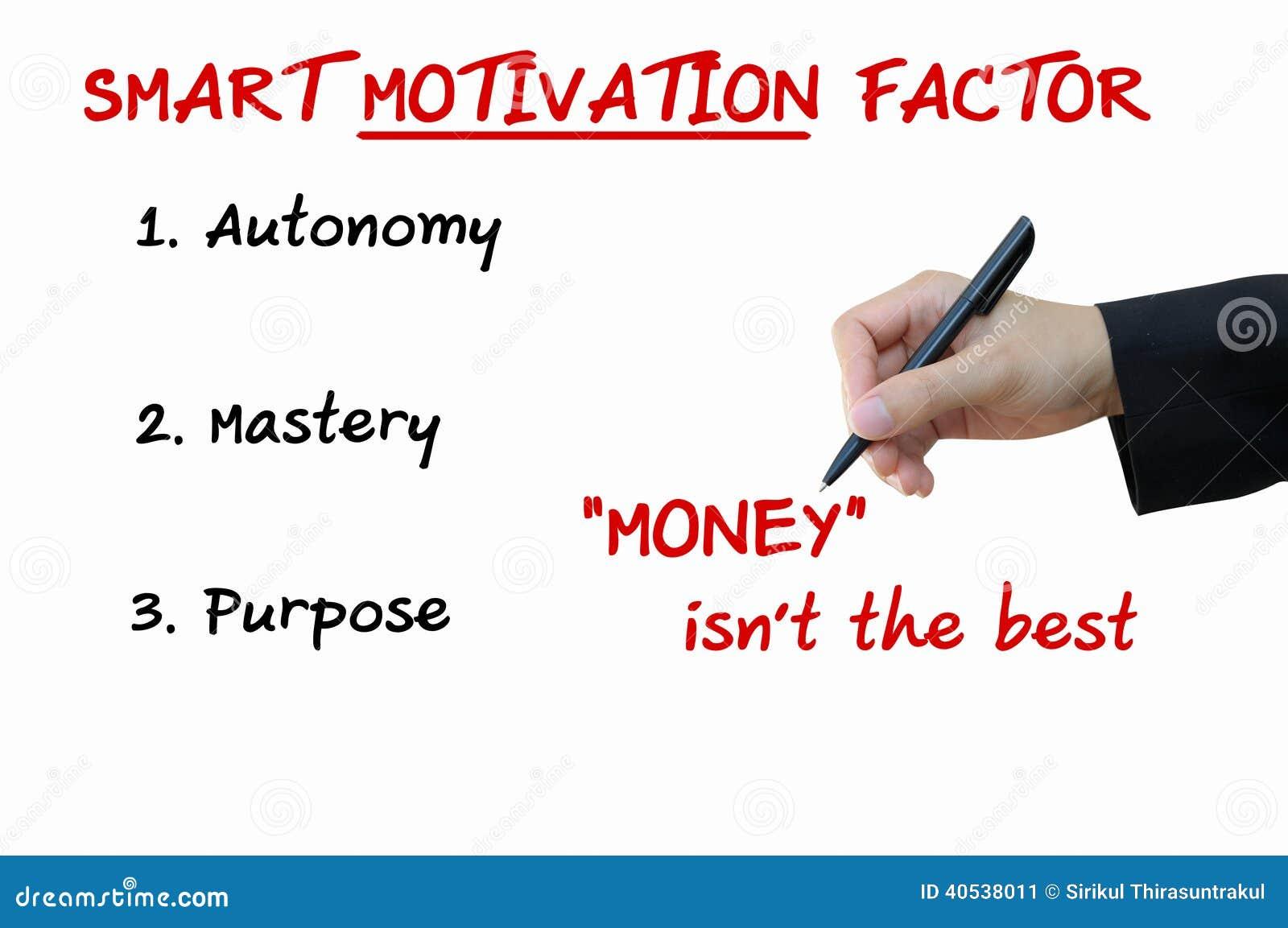Factor elegante de la motivación de concepto del negocio