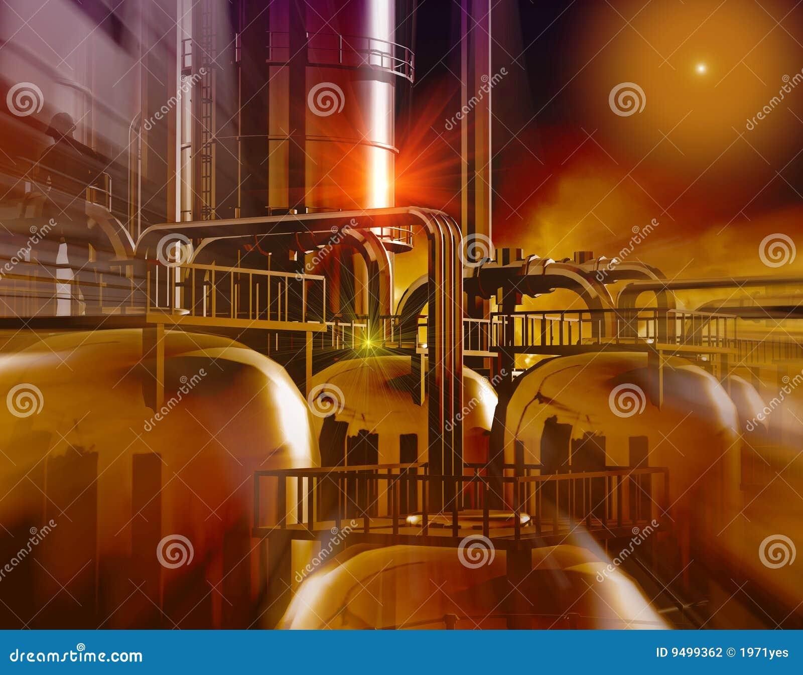 Factory Stock Illustration  Illustration Of Storage