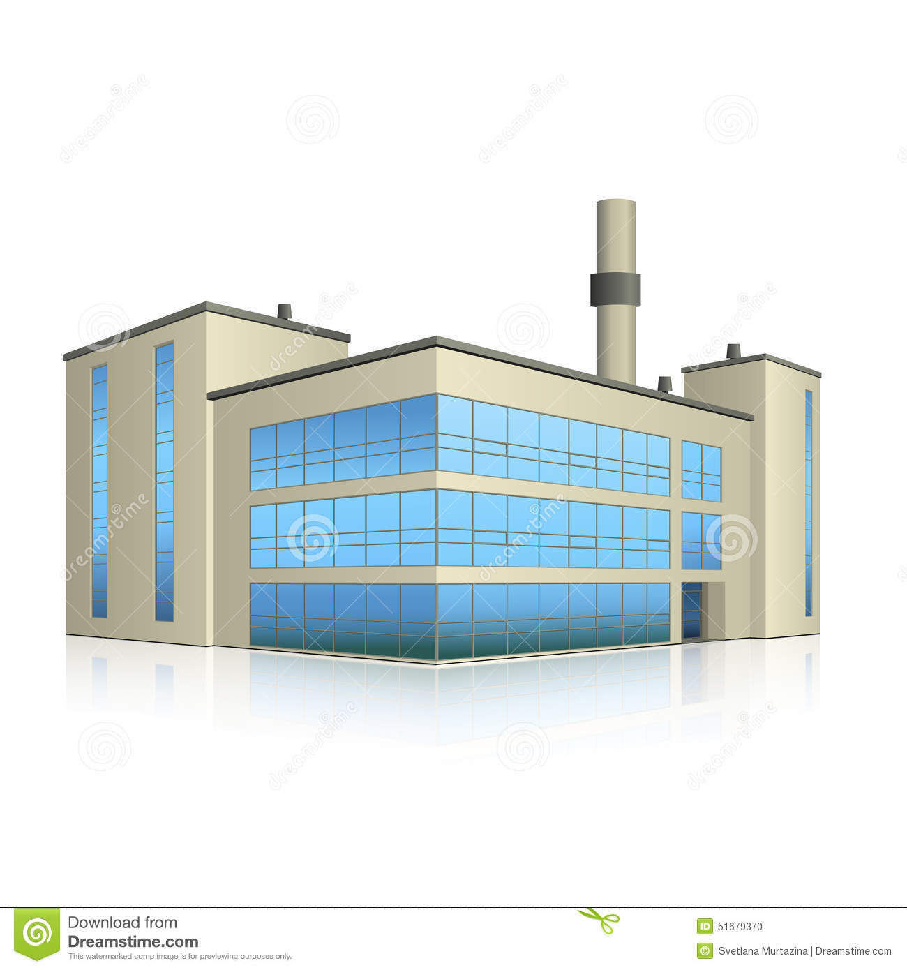 Factory building with offices and production facilities for Production builder