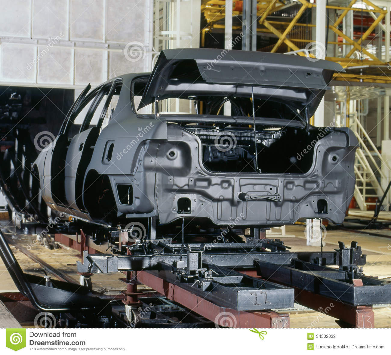 Factory Car Painting Stock Photography