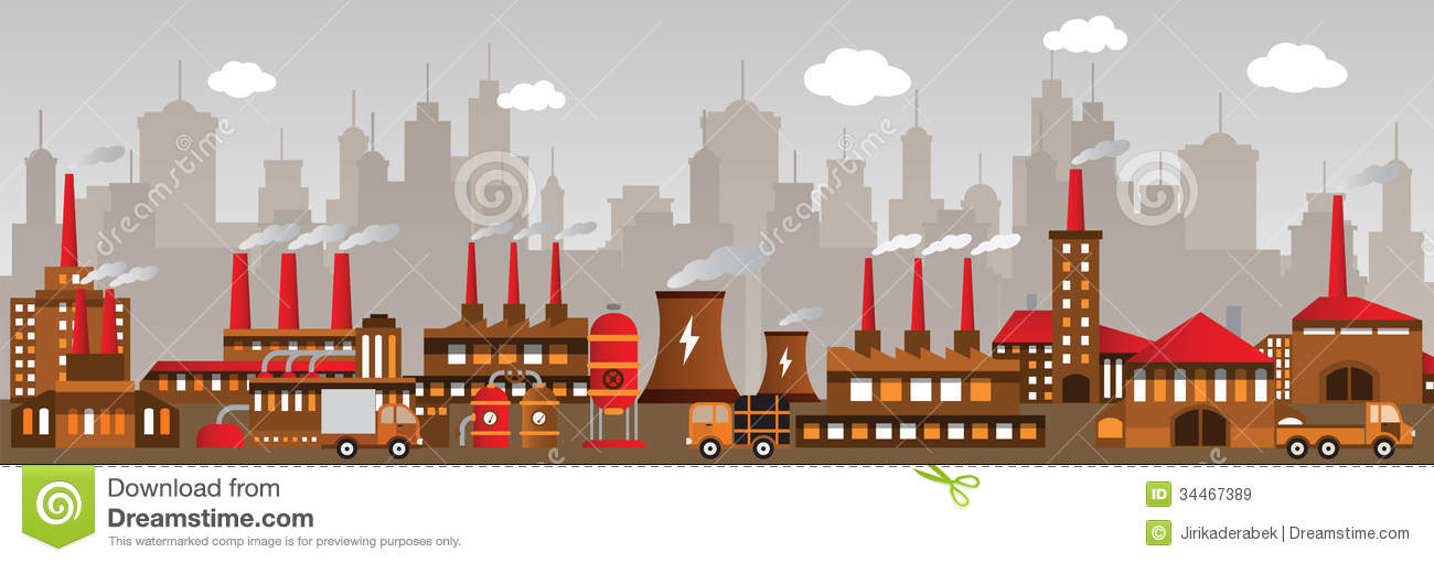 factory in the city stock vector  image of buildings