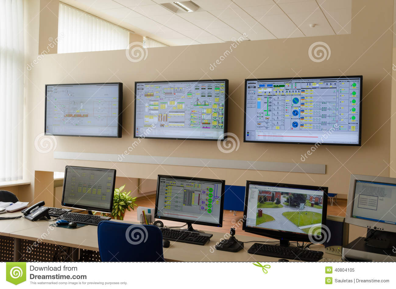 Factory Control Room Editorial Image Image Of Indoors