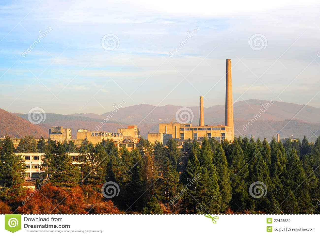 Factory In The Forest Stock Photo Image Of Chimney