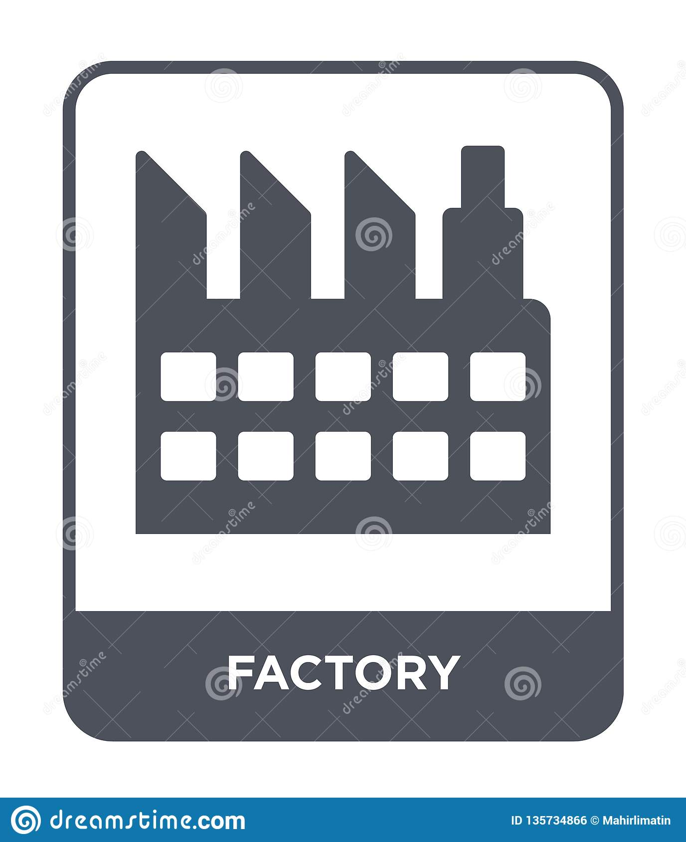 factory icon in trendy design style. factory icon isolated on white background. factory vector icon simple and modern flat symbol