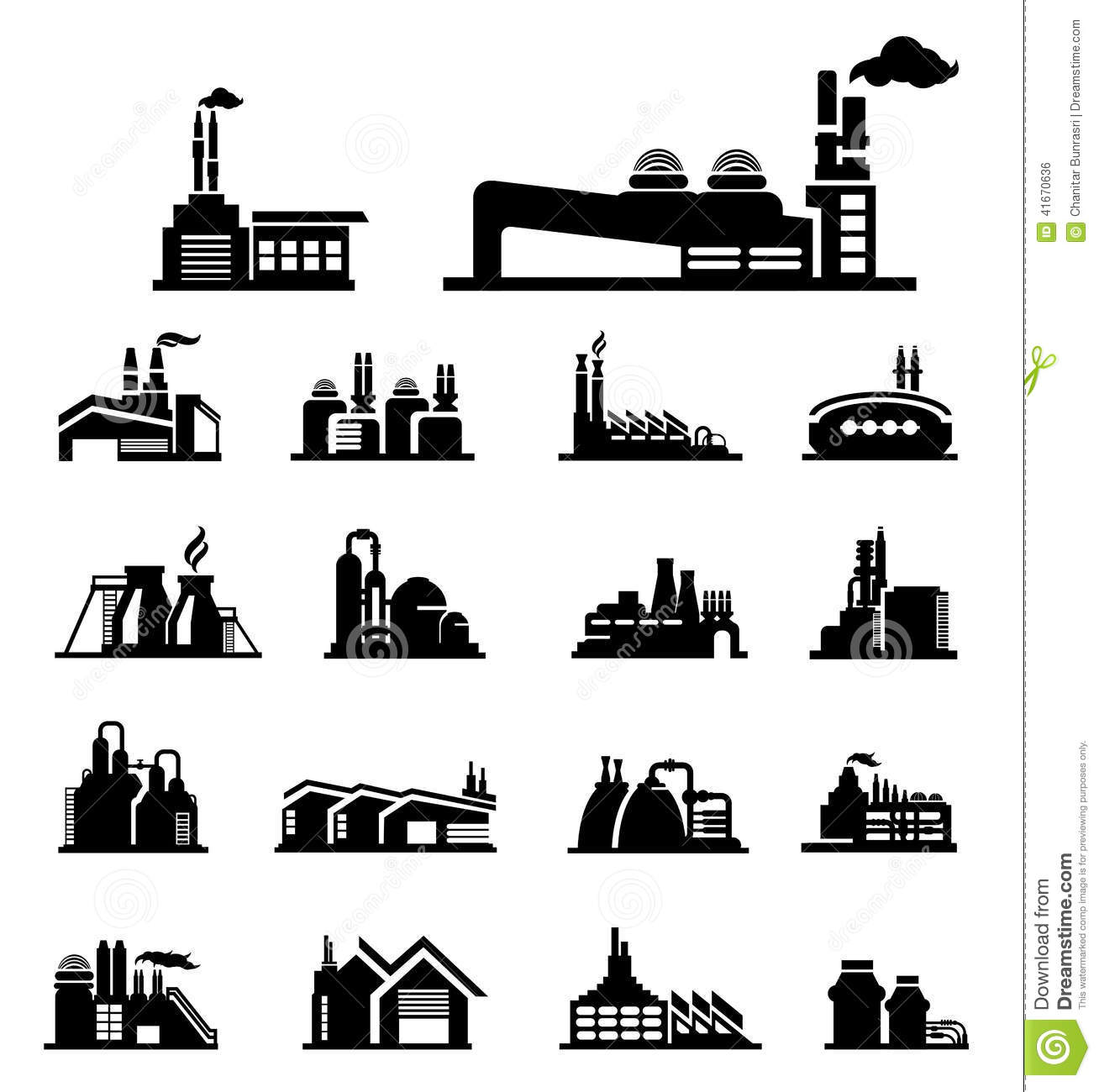 Factory Icon Stock Vector Image Of Interior Nuclear 41670636