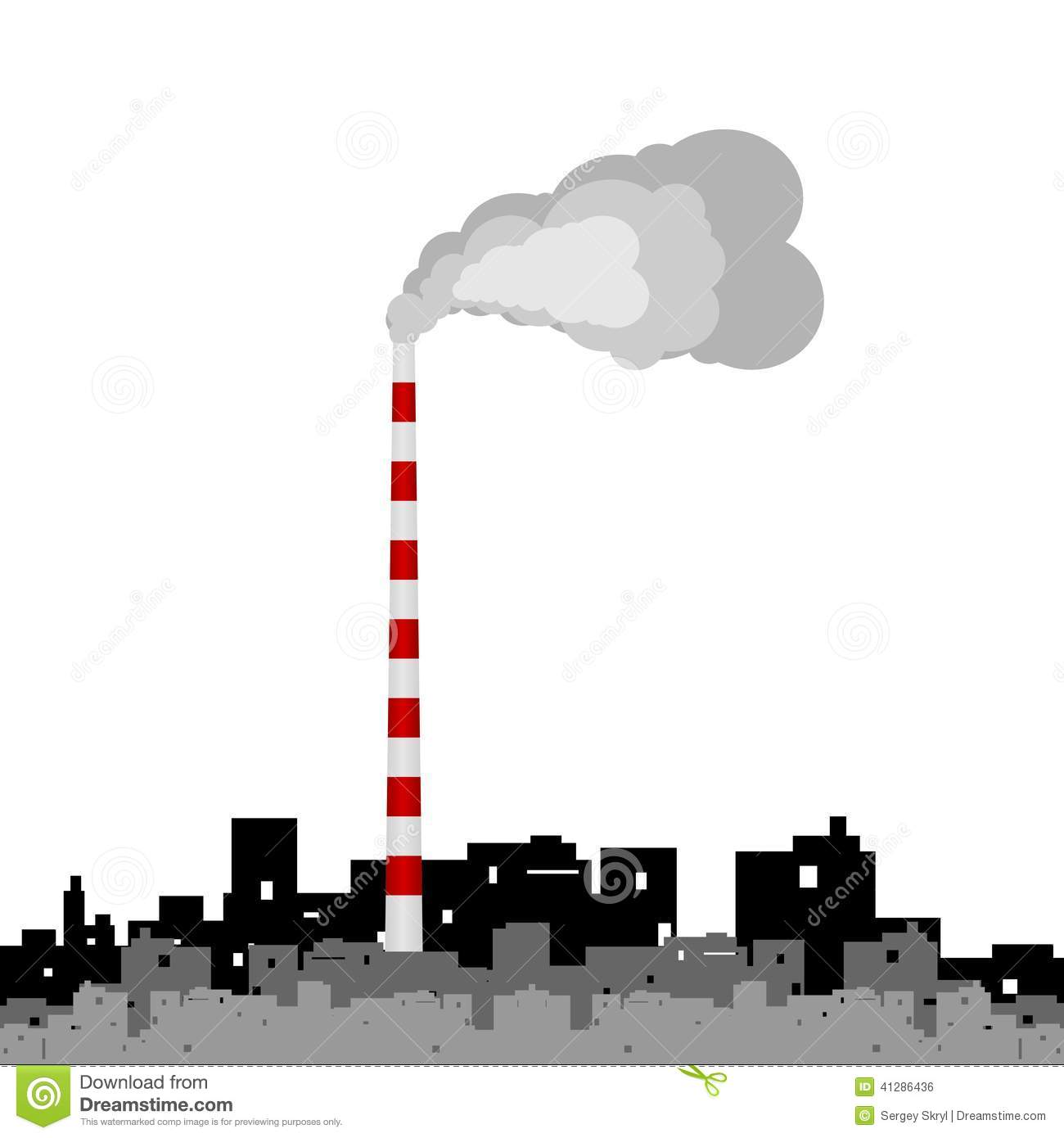 Factory Stock Vector Image Of Environment Manufacturing