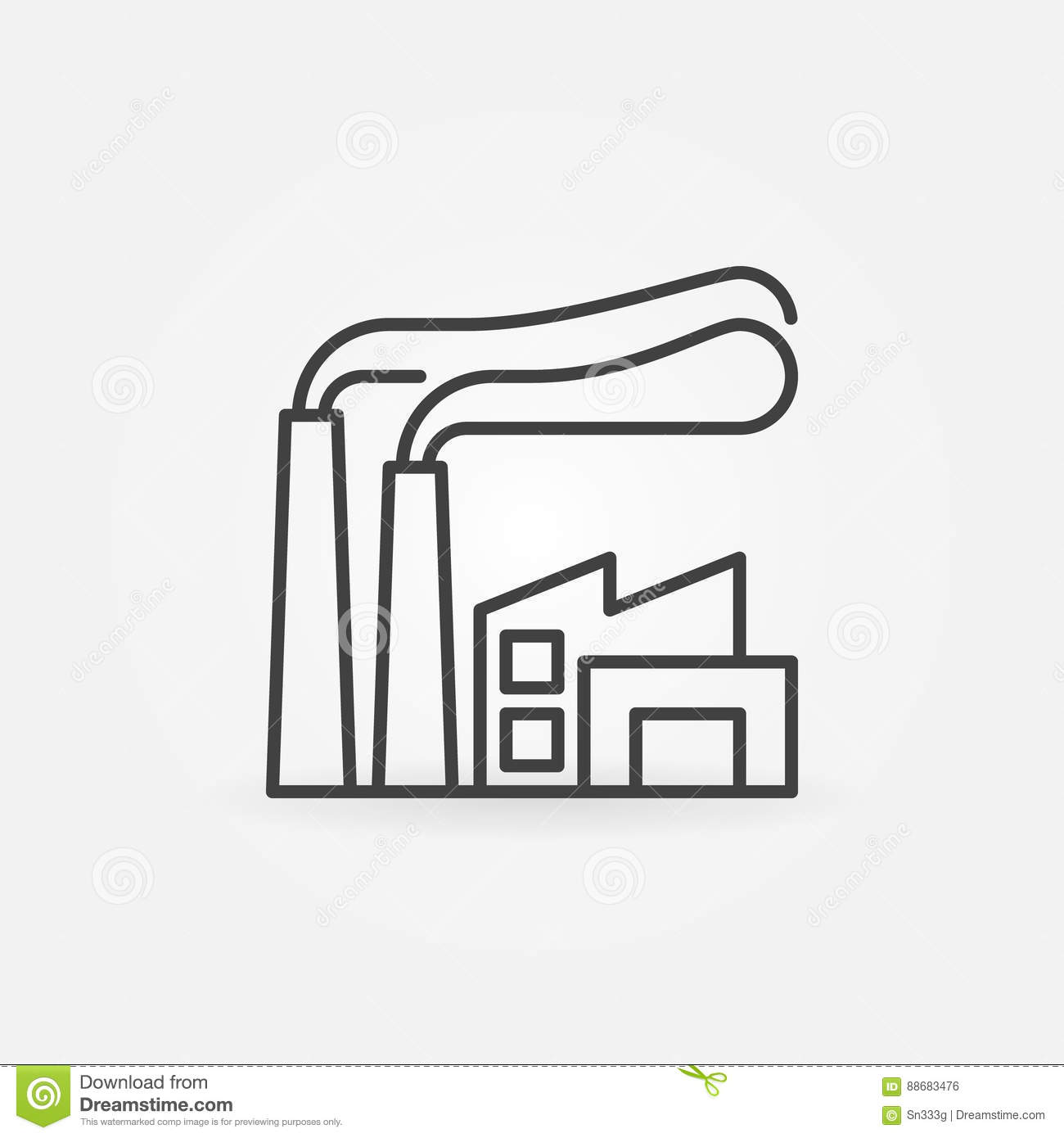 Factory line icon stock vector. Illustration of modern ... on