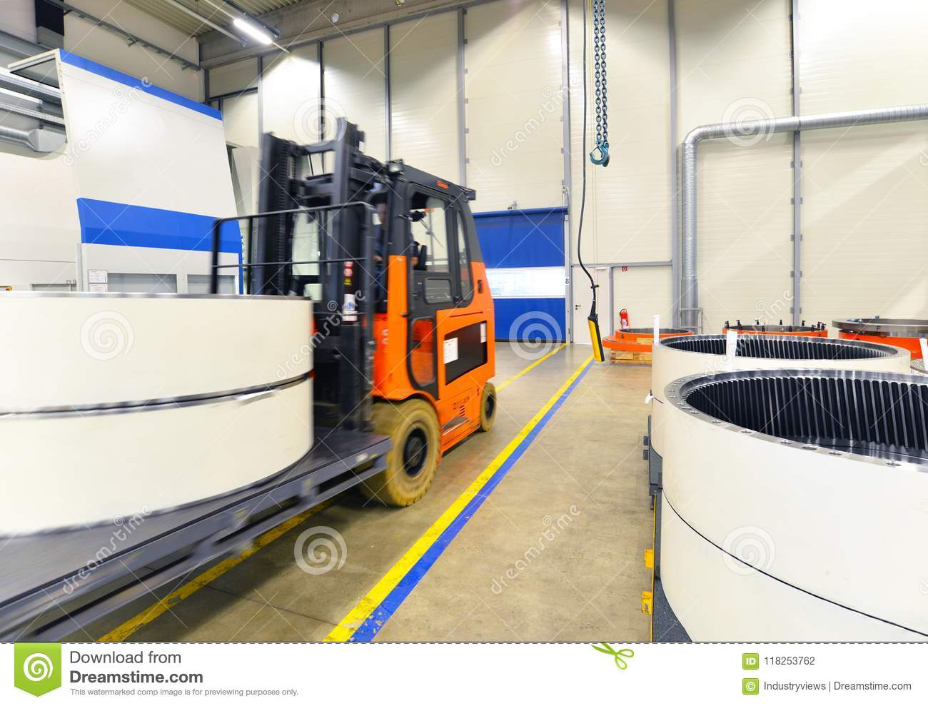 Production manufacturing forklift trucks