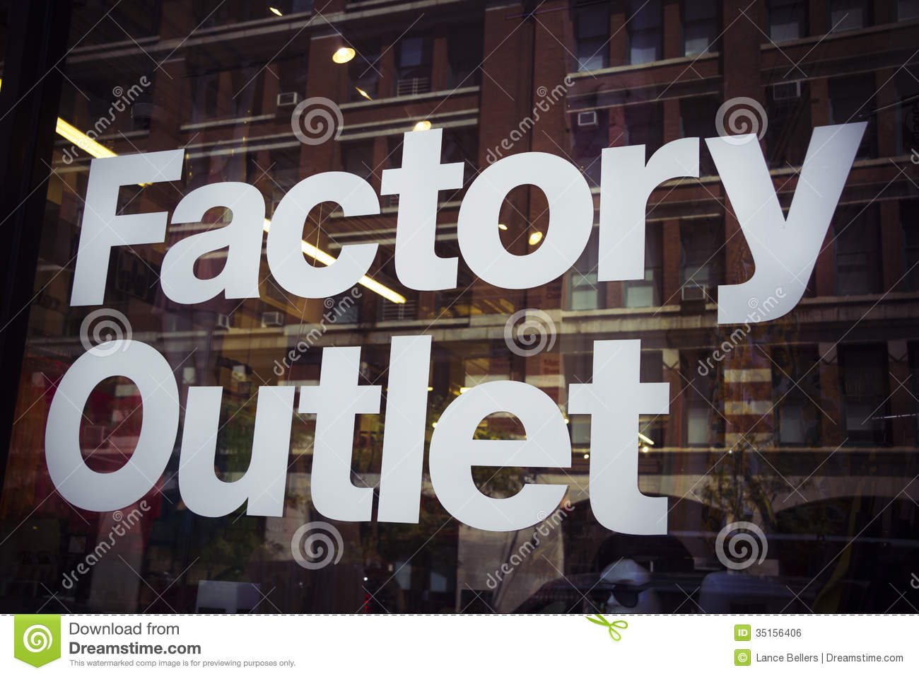 Factory Outlet Royalty Free Stock Image Image 35156406