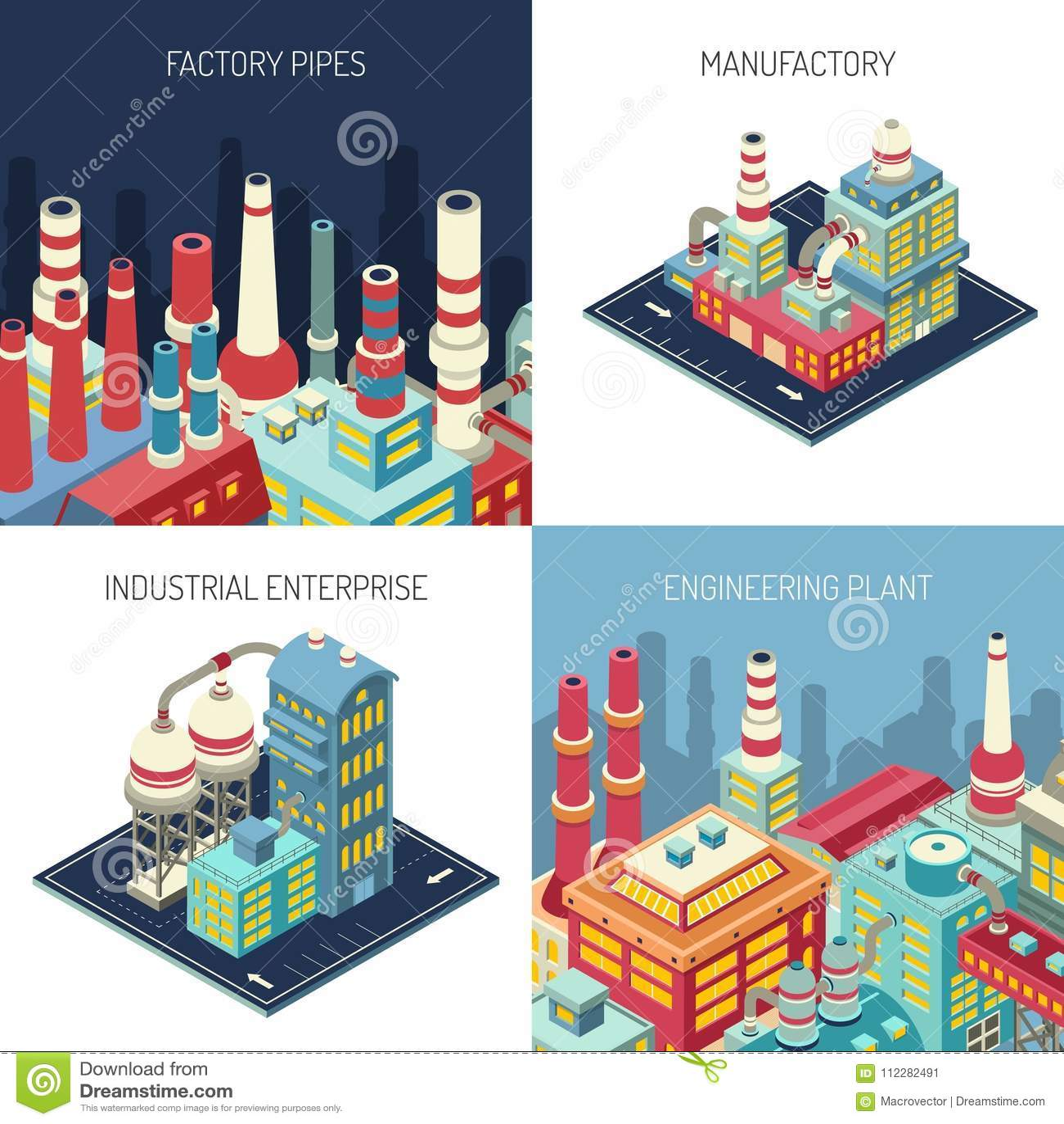 Factory Isometric Design Concept