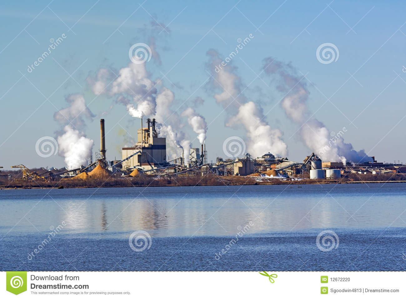 Factory On A River In Virginia Stock Photo Image 12672220