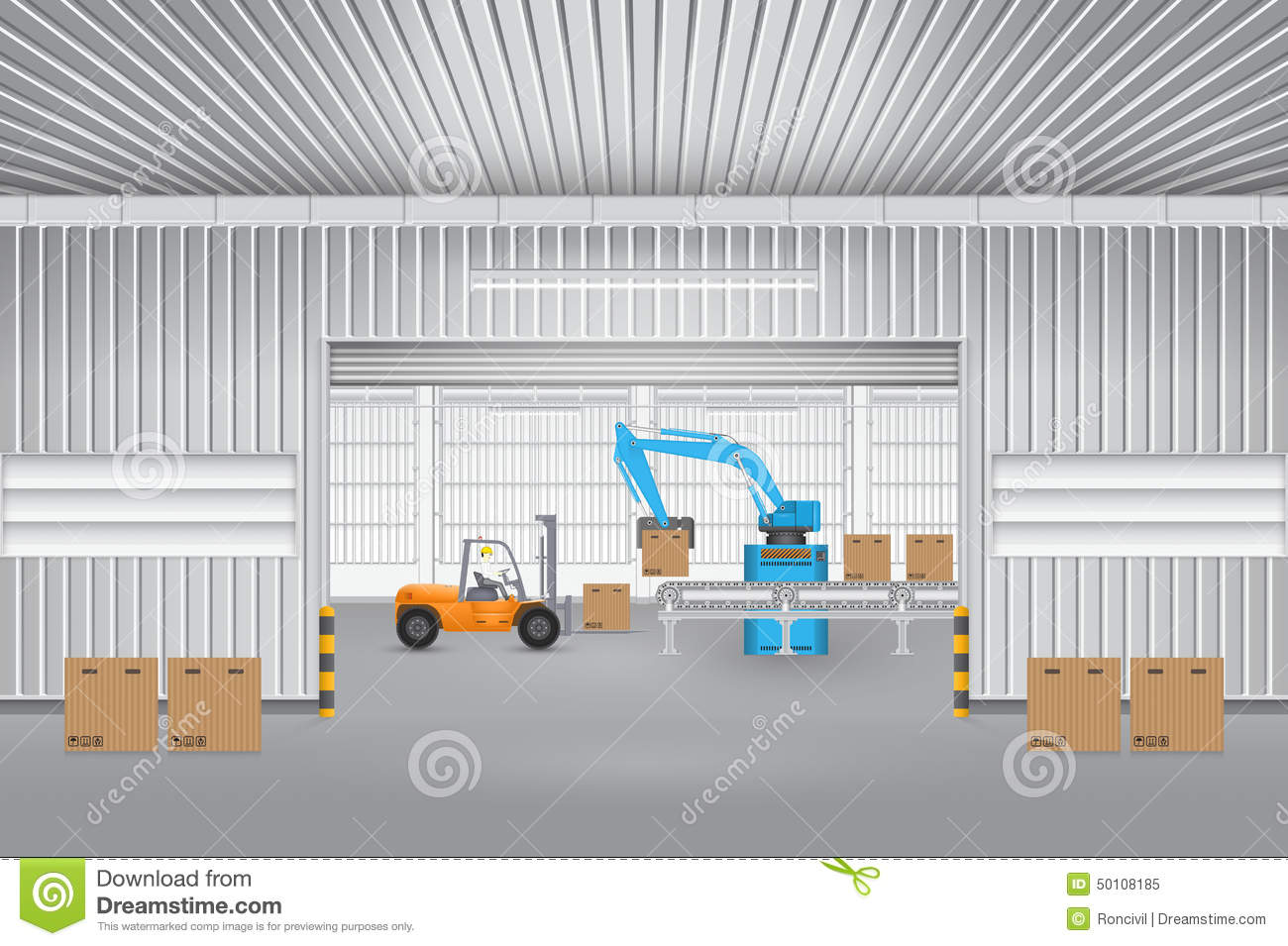 Factory Stock Vector Image 50108185