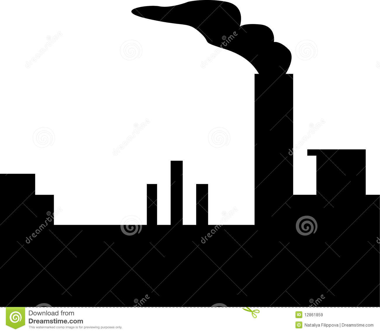 Factory Silhouette Royalty Free Stock Images Image 12861859