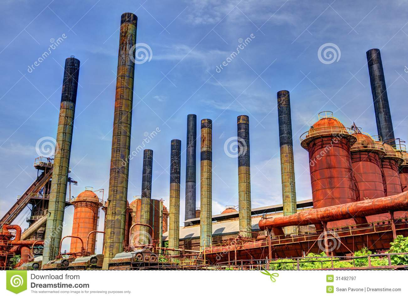 Factory Smoke Stacks Stock Image Image Of Smokestacks