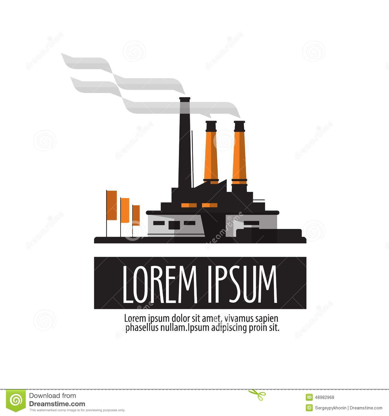 Stock Illustration Factory Vector Logo Design Template Manufactory Building White Background Illustration Image48982968 on nuclear text message