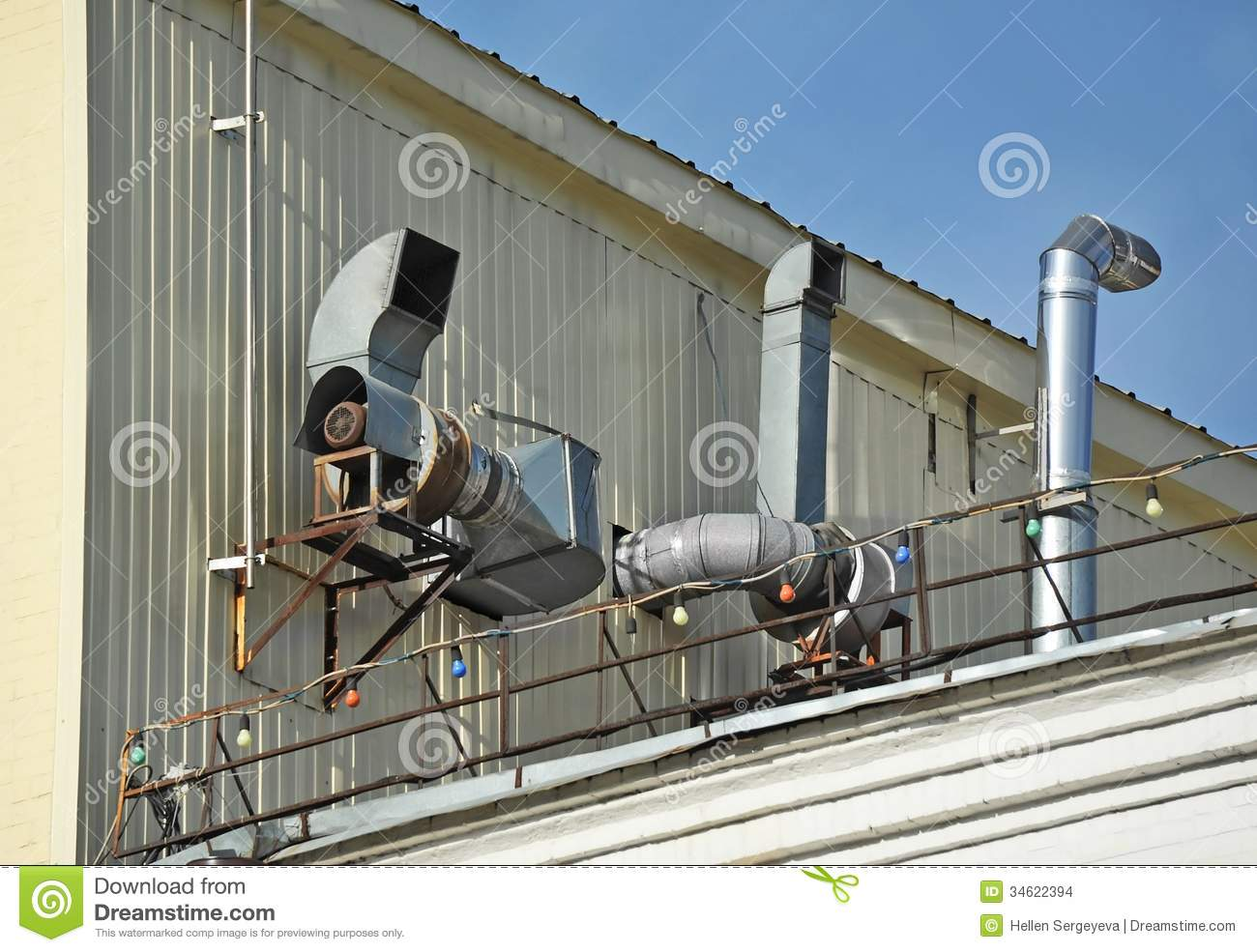 Factory Ventilation System Stock Images Image 34622394