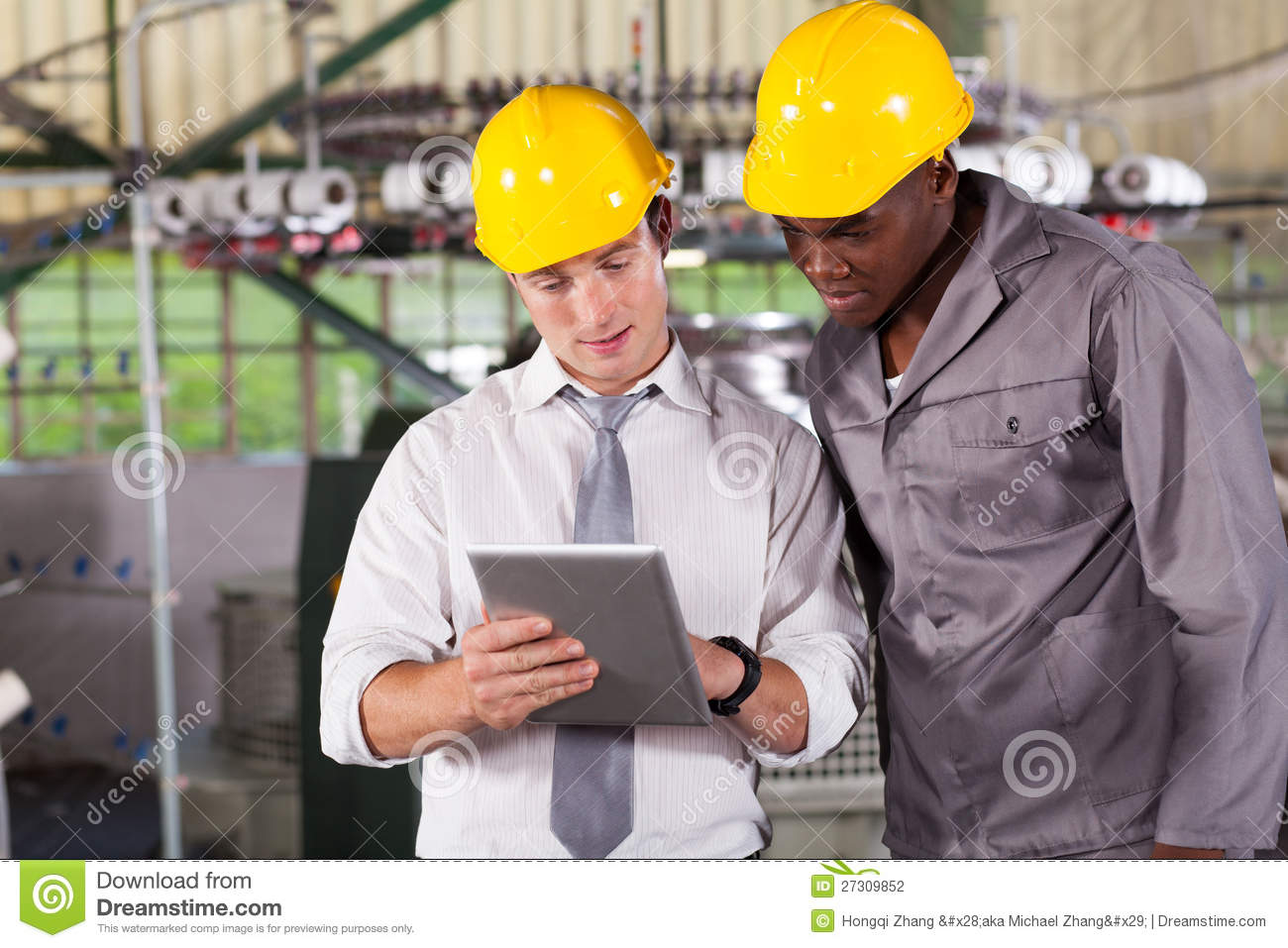 Factory Worker Tablet Computer Stock Photography - Image: 27309852