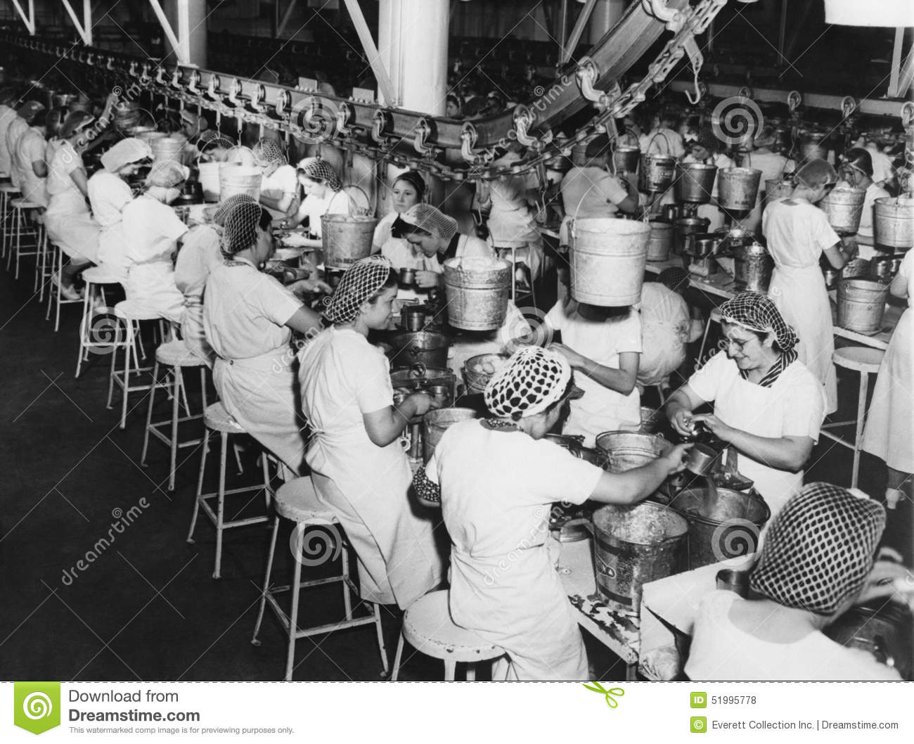 Factory Workers Stock Photo Image 51995778