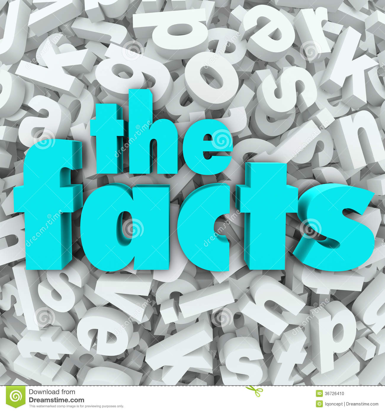 The Facts 3D Words Background Information Real Data Stock ...