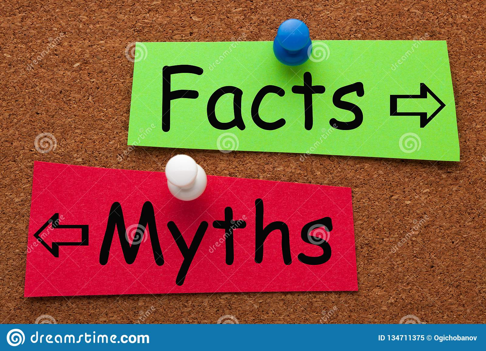 Facts Myths Concept stock image  Image of factual, fake - 134711375