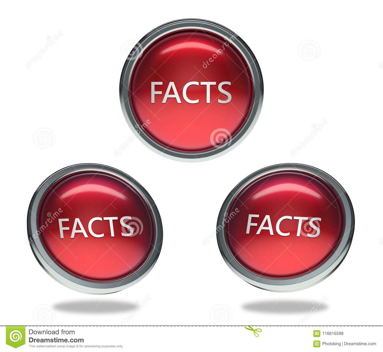 Facts glass button stock illustration. Illustration of frame3d ...