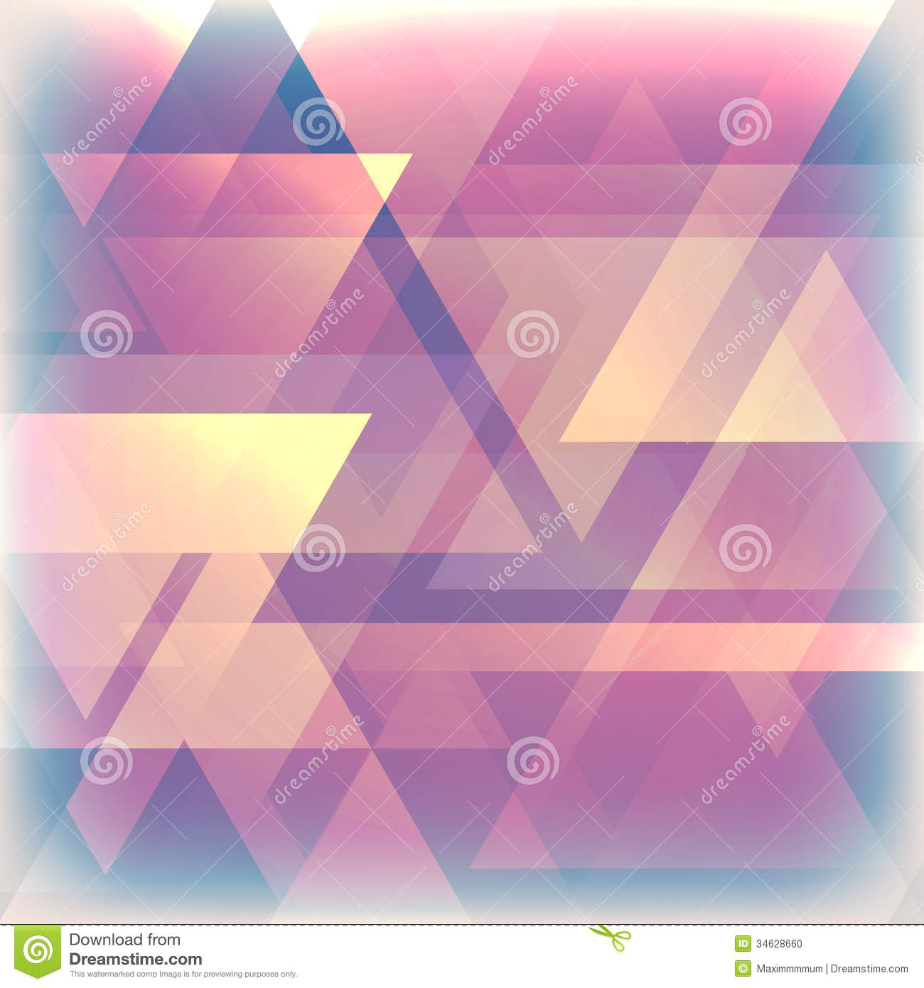 faded background with triangles stock photo