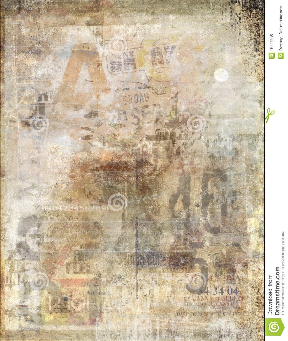 Faded newspaper background stock illustration image of - Papel de pared retro ...