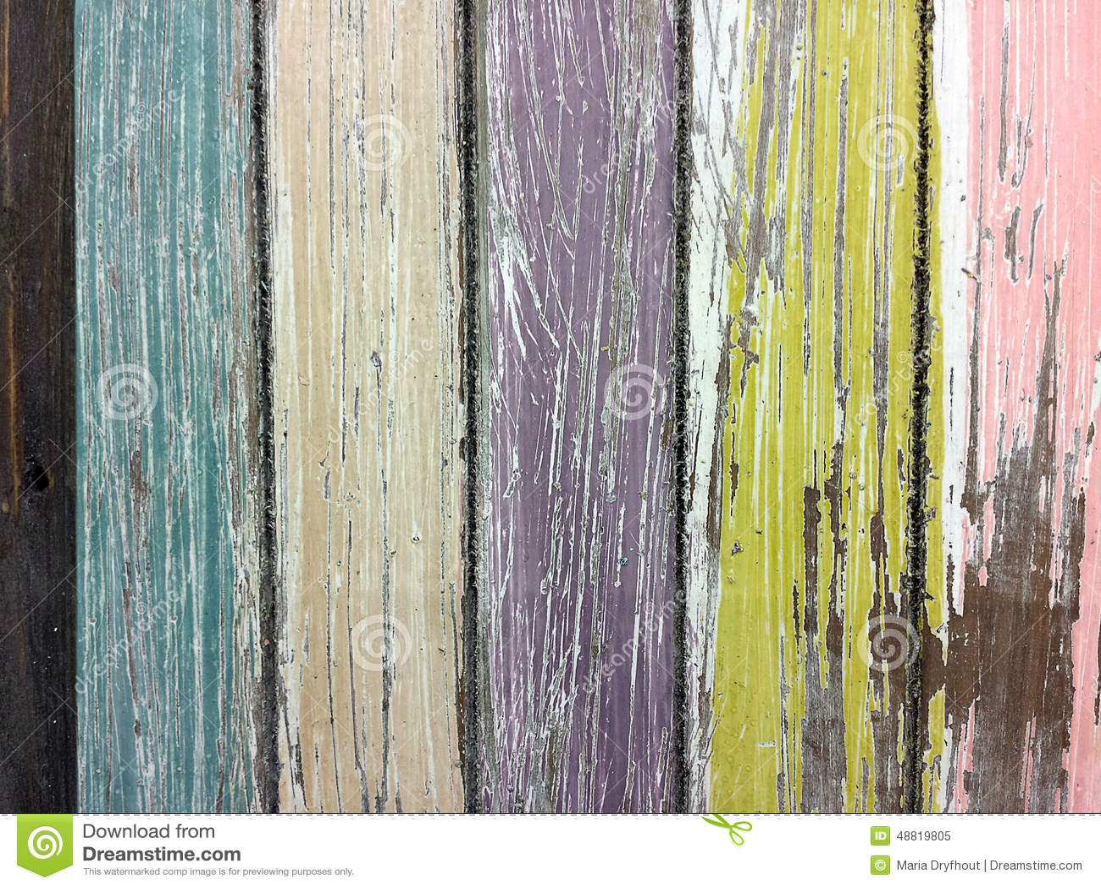 Faded Paint On Barn Wood Stock Photo Image 48819805