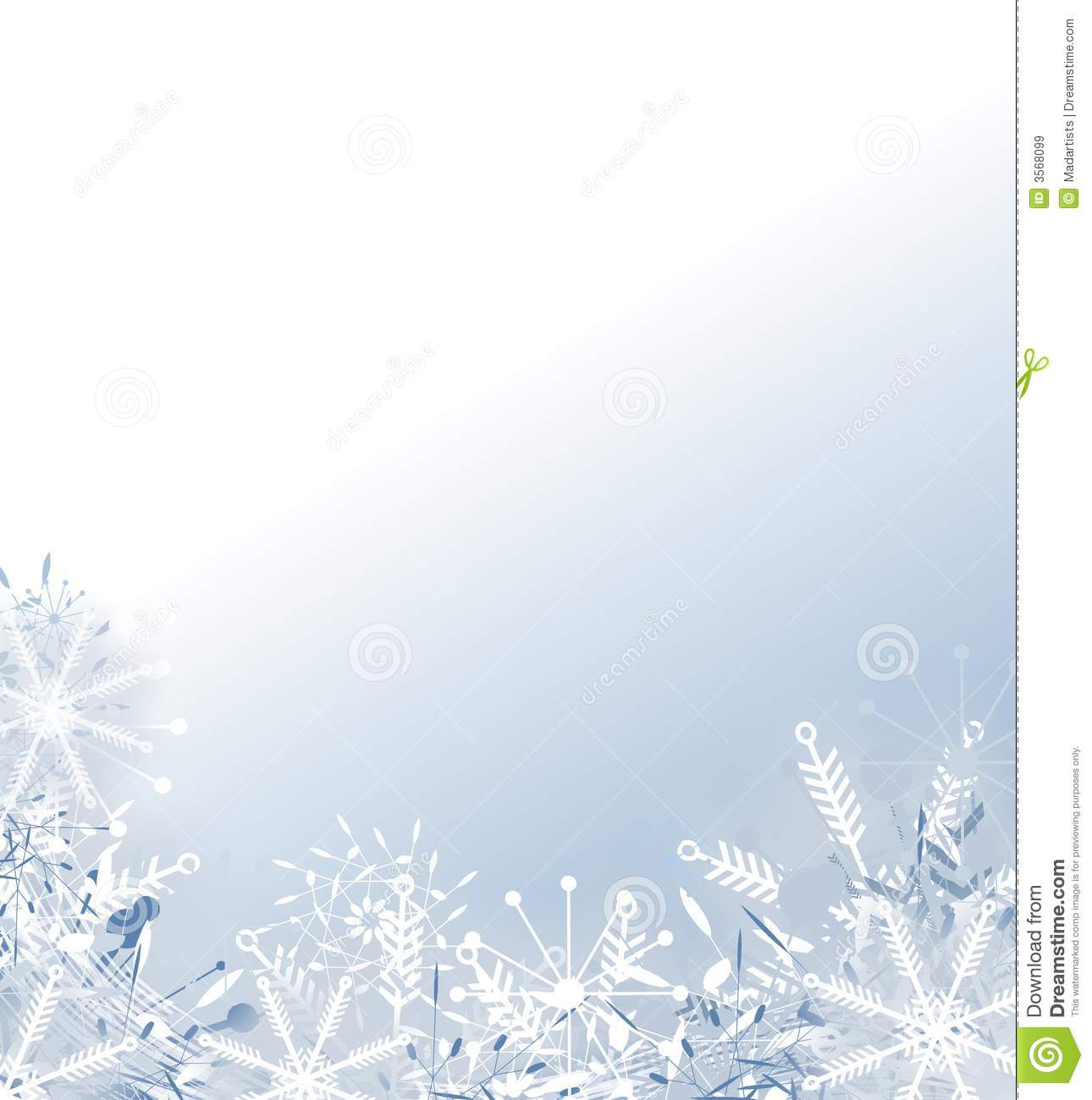 Faded Snowflake Background Royalty Free Stock Images - Image: 3568099