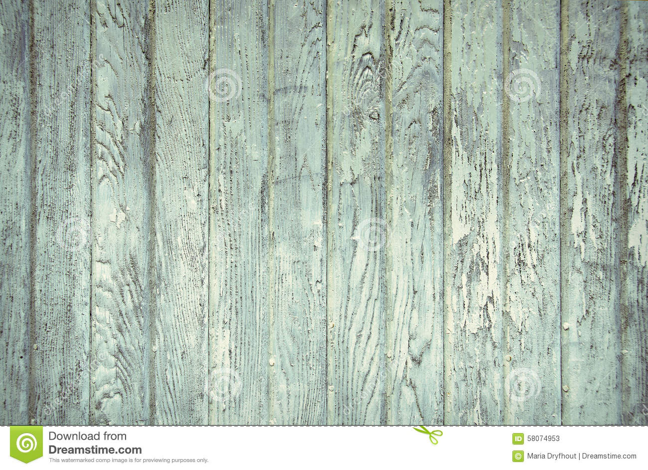 faded turquoise painted barn wood stock image