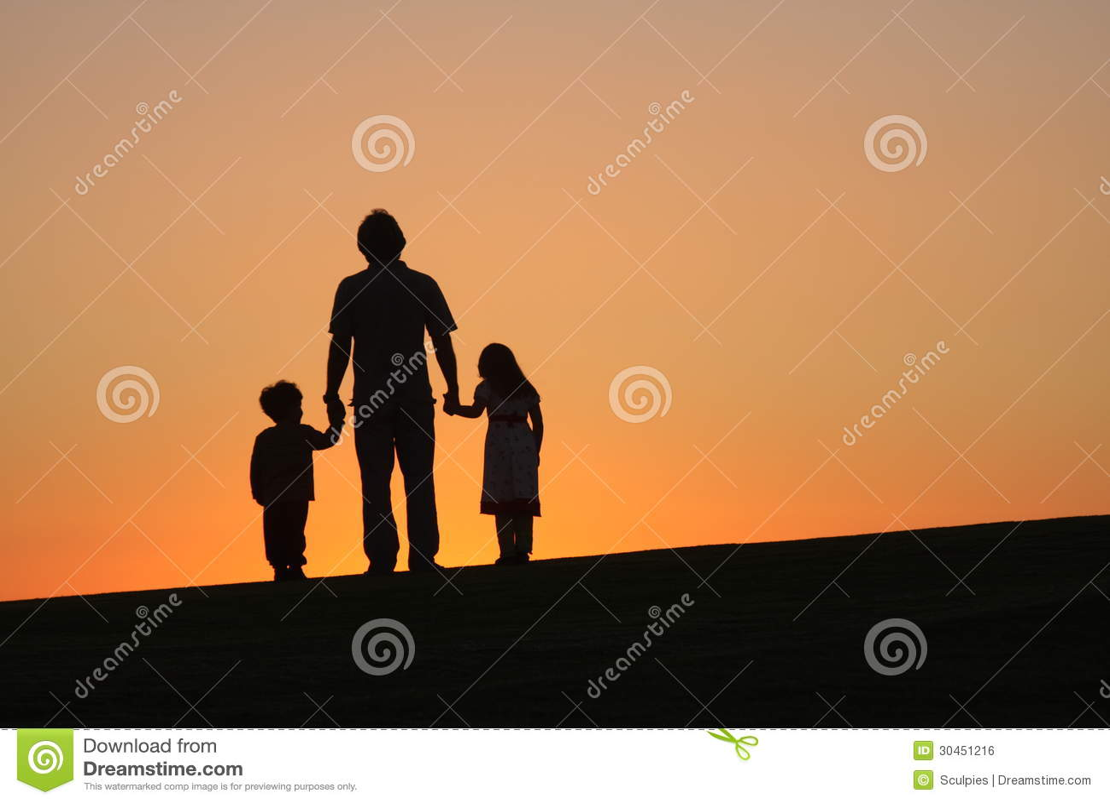 Fader med barn