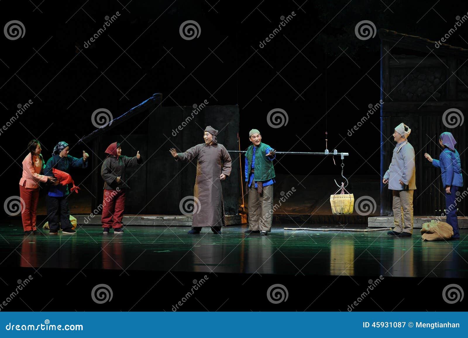 Fader- och son- och vänskapsmatchgrannskap - Jiangxi opera en besman