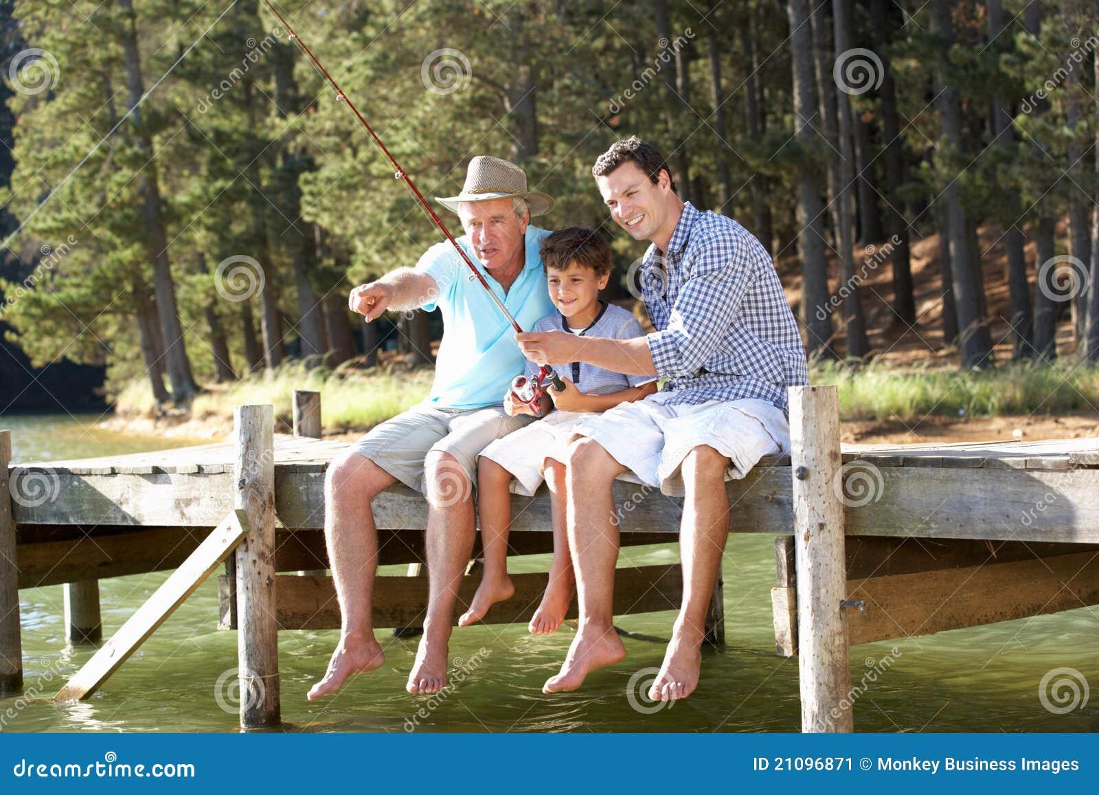Fader-, son- och sonsonfiske tillsammans