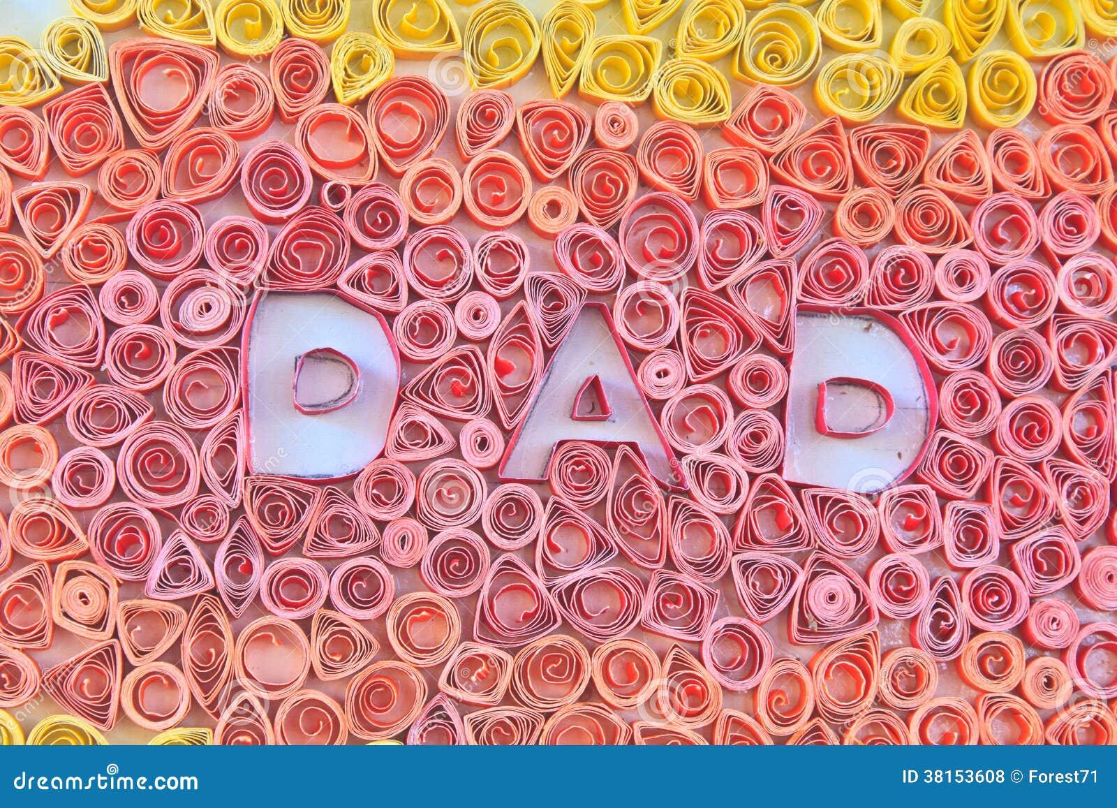Faders dag som göras från papper